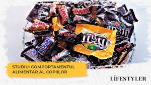 Comportamentul alimentar al copiilor – 65% dintre aceștia consumă dulciuri zilnic